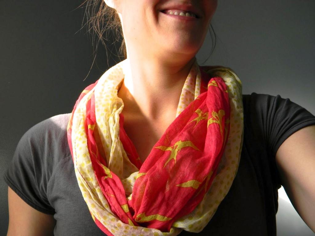 bird on it scarf