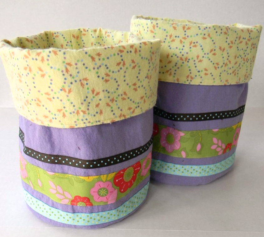 fabric easter buckets