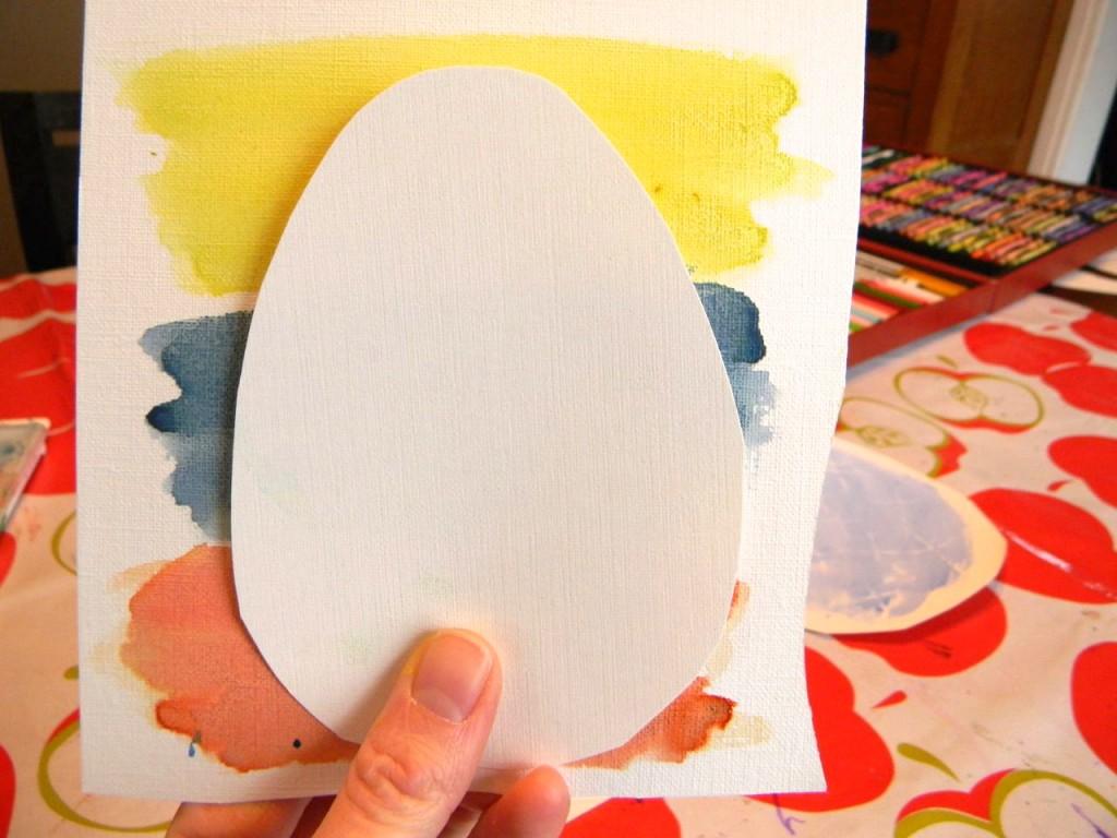 egg garland template