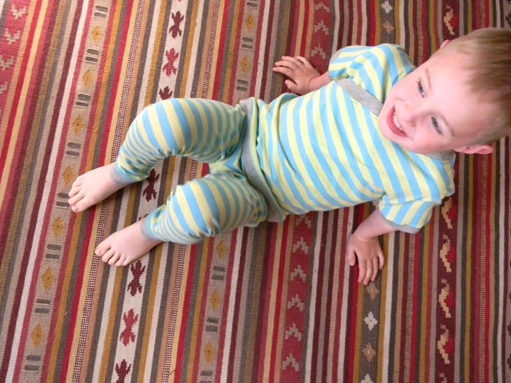 sideways stripe pajamas