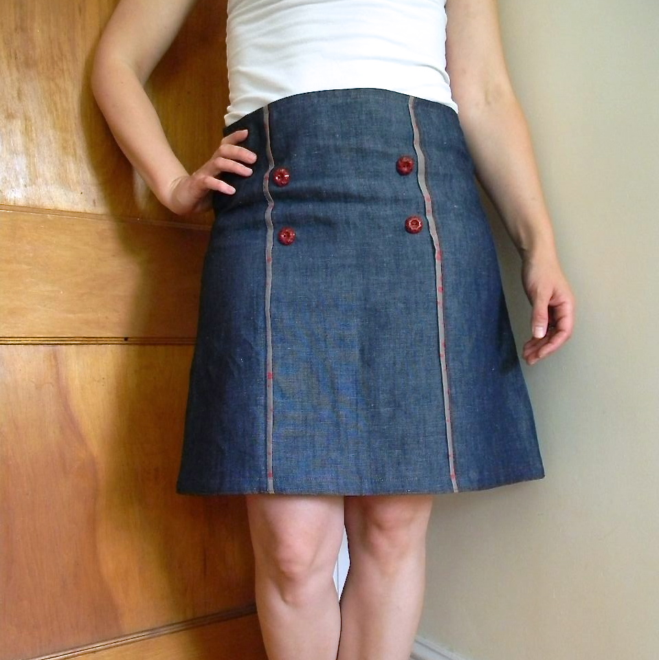 cal patch skirt