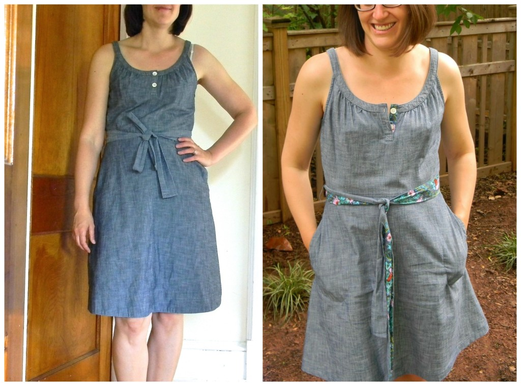 dull dress before and after