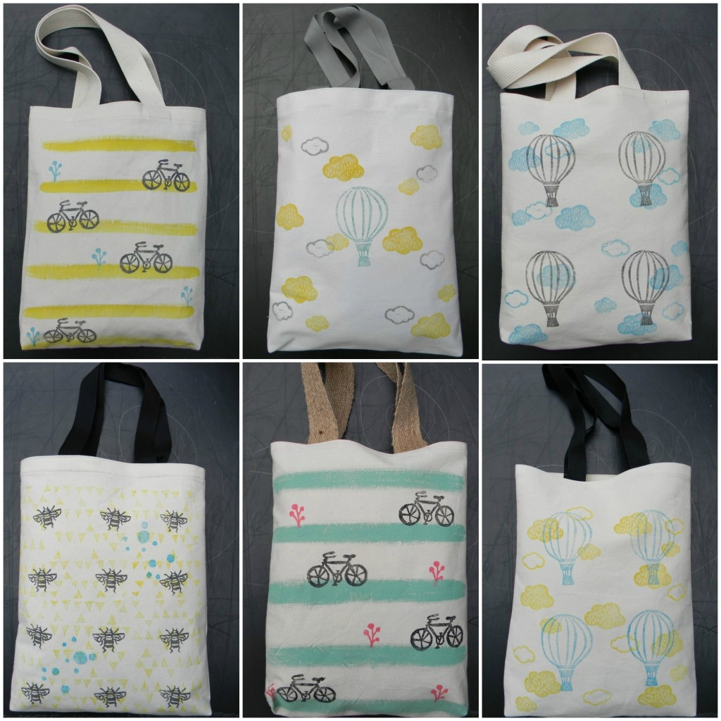 stamped tote bags