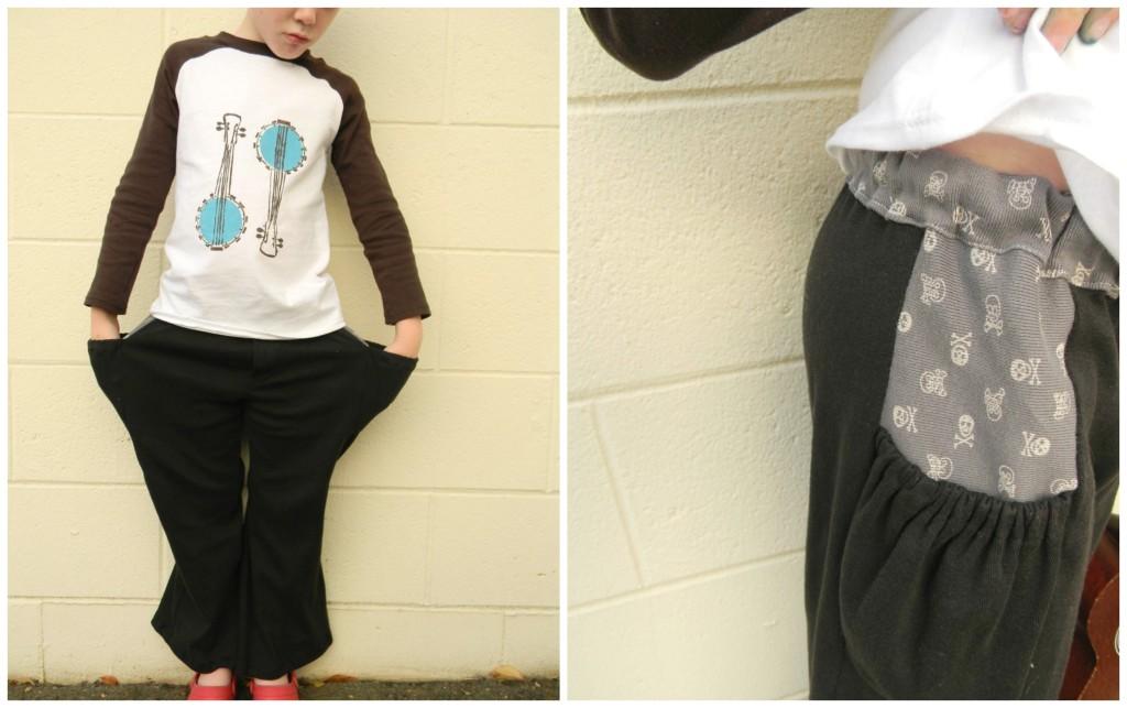 treasure pocket pants in knit