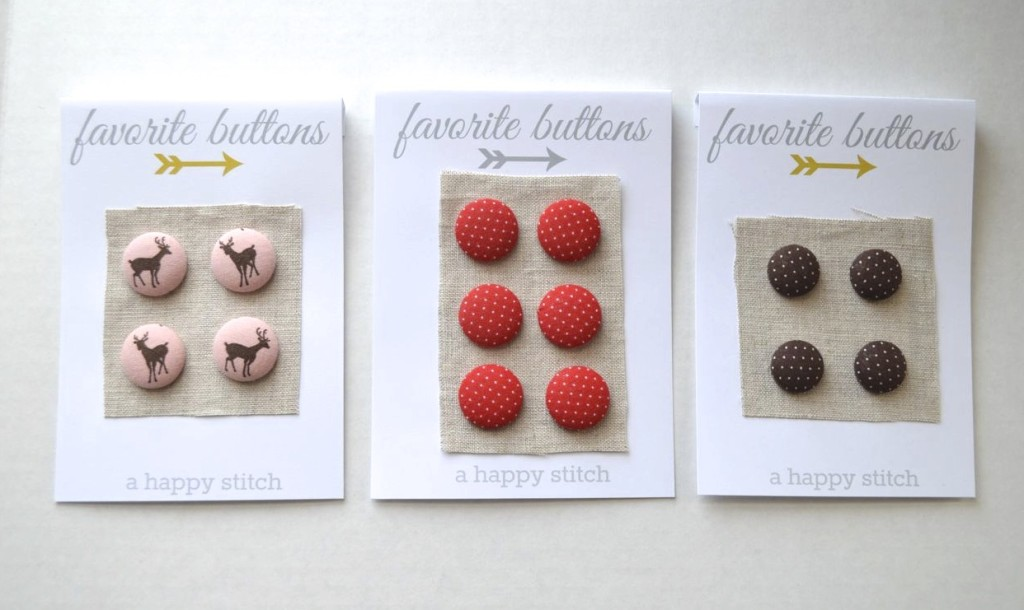 fabric covered buttons from a happy stitch