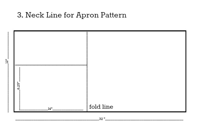 Apron Pattern Neck Line Step 3