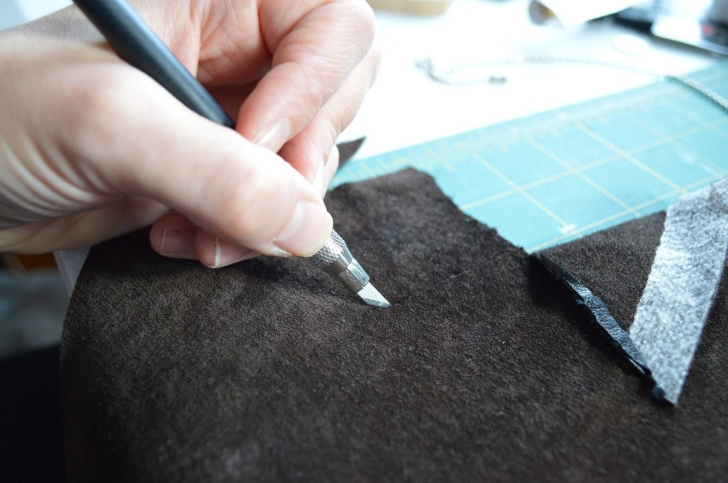 cutting leather adventure on a happy stitch