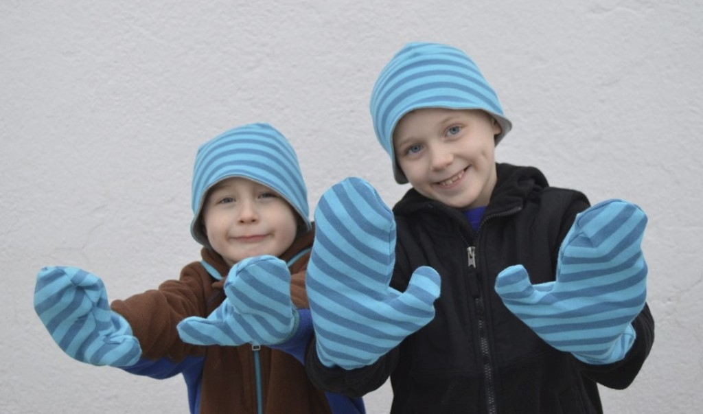 knit hats and funky mitts from a happy stitch
