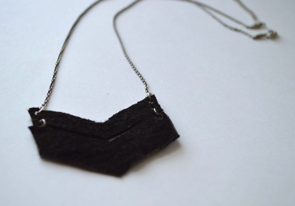chevron necklace made by a happy stitch