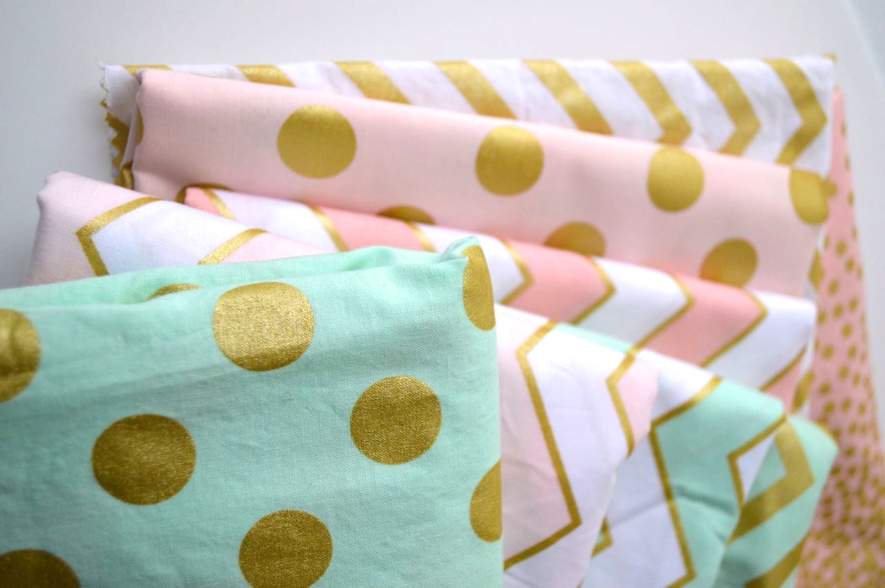Fantastic Blue And Gold Chevron Fabric Pictures Inspiration ...