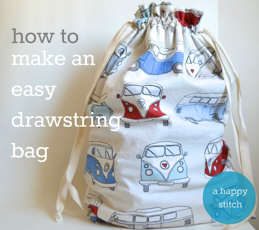 make an easy drawstring bag
