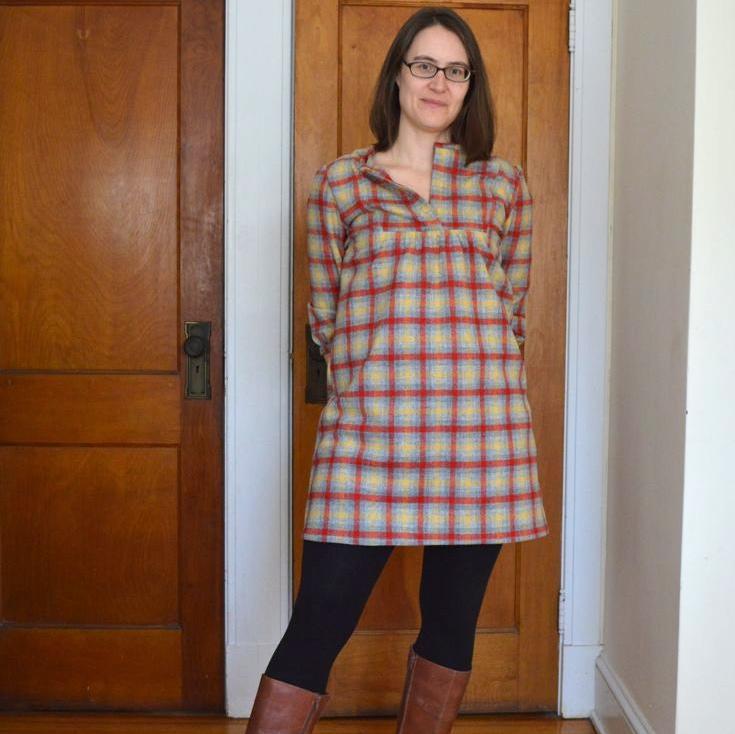 A Wiksten Tova In Pendleton Wool A Happy Stitch