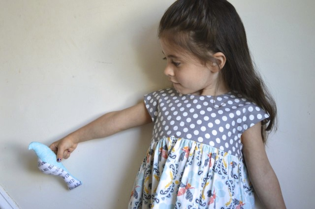 honeybee and polka dot geranium dress | made by a happy stitch