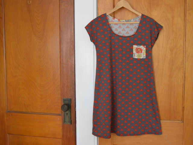 Easy, relaxed tennis dress with a little Liberty pocket | pattern from skirt as top made by a happy stitch