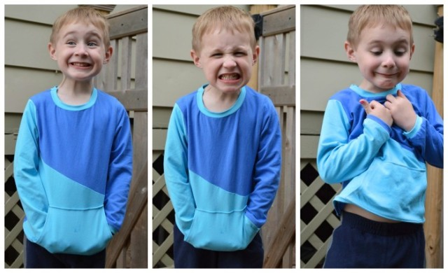 color blocked cupcake tee on the many with many emotions