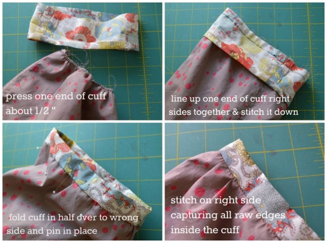 Applying Cuff without raw edges | a happy stitch