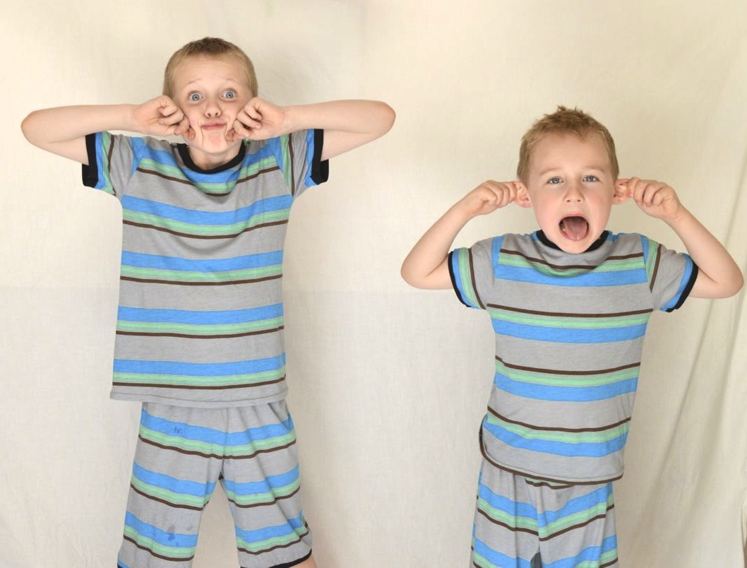 silly faced boys in super soft matching pj's | made by a happy stitch