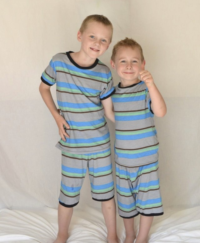Kids Clothes Week : Super soft match pajamas for boys | made by a happy stitch