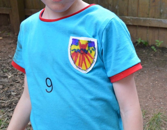 Kid Drawn Soccer BAdges for handmade tees | Made by a happy stitch for Kid's Clothes Week