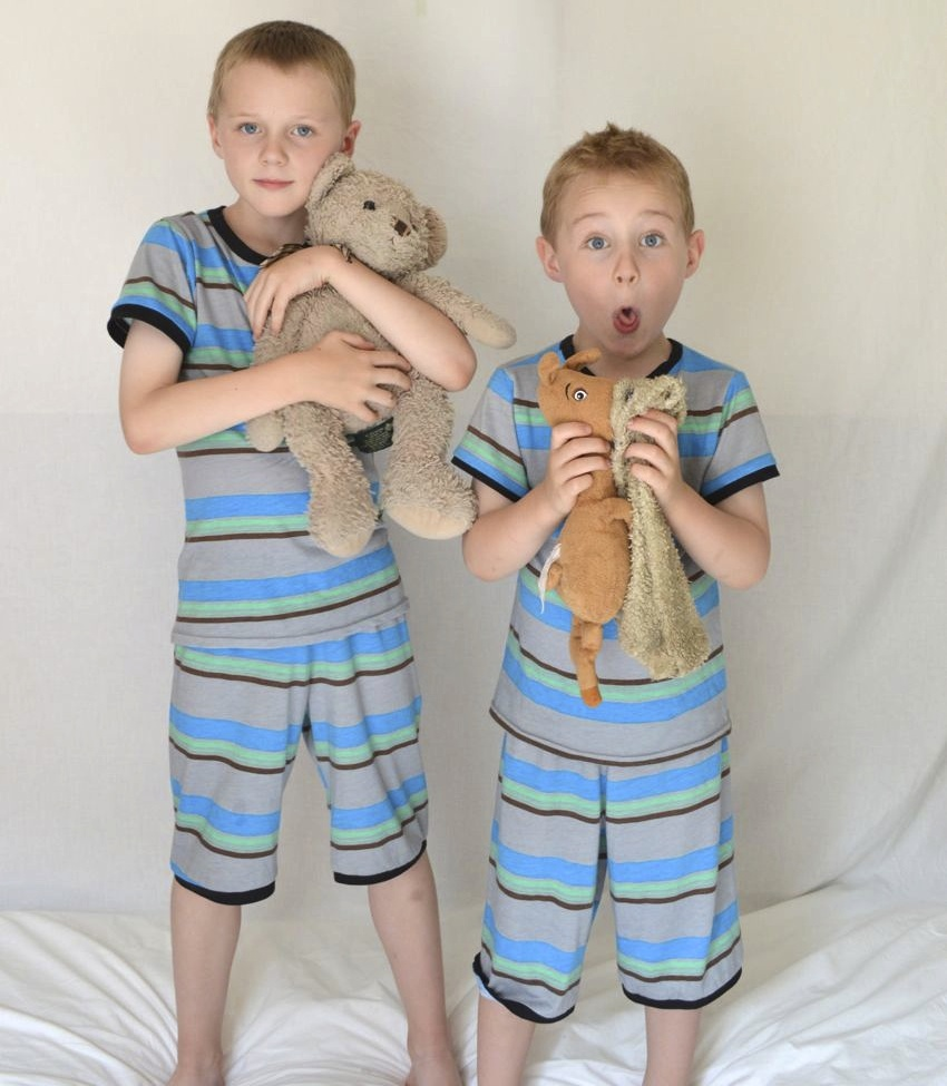 Matchy match pi's for boys | part of Kid's Clothes Week made by Melissa Q. at a happy stitch