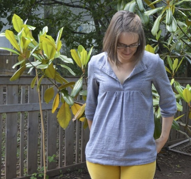 Dotty Chambray Wiksten Tova top | Made by a happy stitch