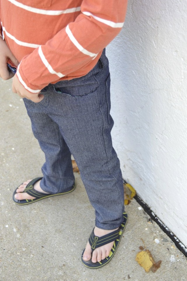 Boy Jeans!! small fry skinny jeans pattern by twitchy threads| from the Perfect Pattern Parcel 4 made by a happy stitch