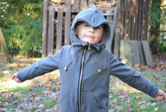 The awesome Knight Hoodie from Charming Doodle | made by Melissa from A Happy Stitch