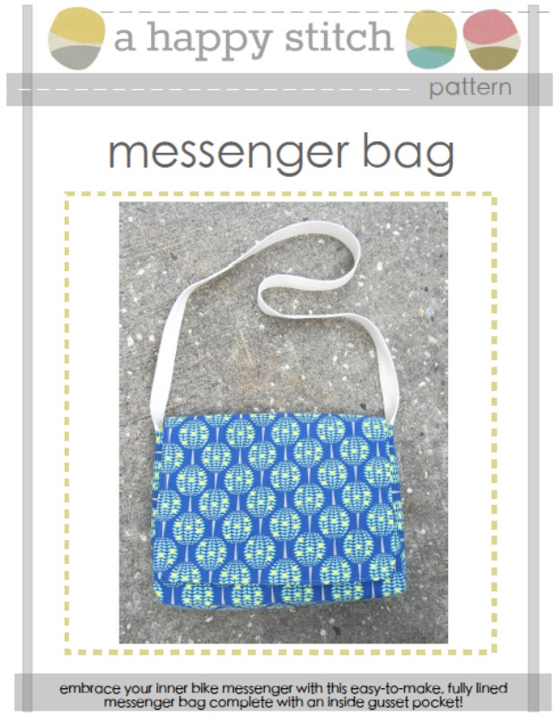 Messenger Bag Pattern from A Happy Stitch