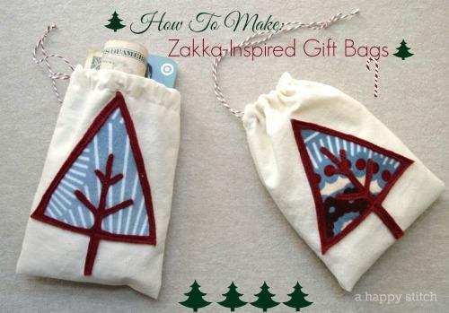 How To Make Zakka-Inspired Gift Bags