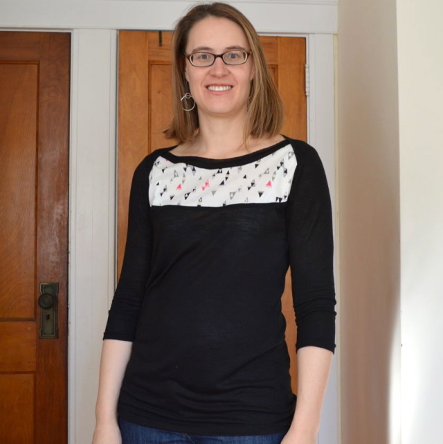 Extraordinary Girl Top with Knit and Woven | From the Sew Fab Pattern Bundle made by a happy stitch