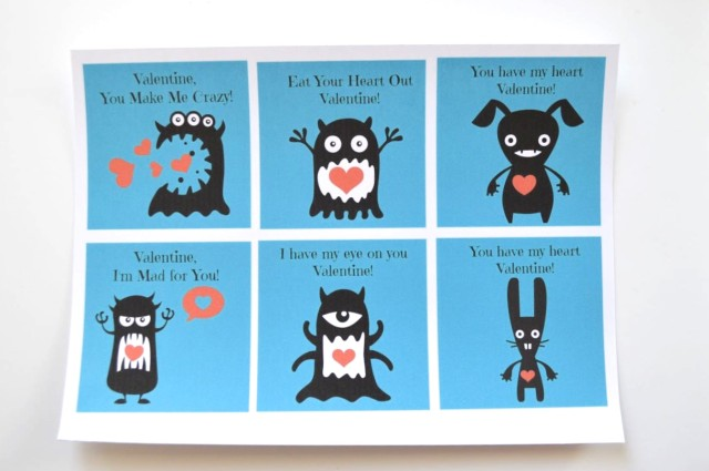 monster valentines day cards free printables a happy stitch – Monster Valentine Cards
