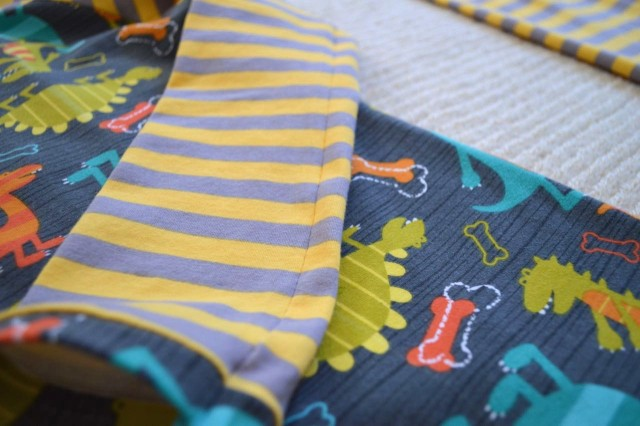 the Cutest Stripy Dinosaur Pajamas for boys