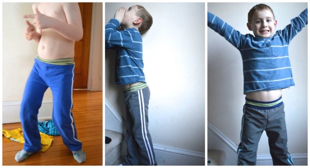 upcycled sport pants for boys