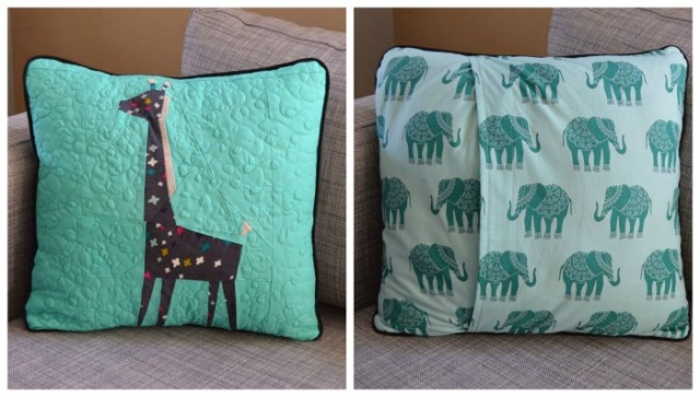 Paper Pieced - Giraffe Pillow
