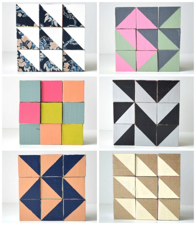 Wooden Quilt Blocks  Toys for Grown Up Who Quilt