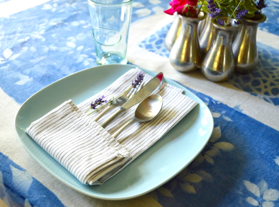 Sunprinted Tablecloth and Napkins