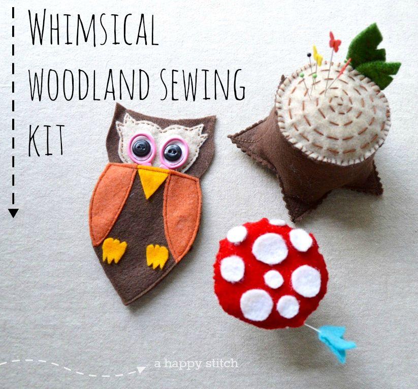 whimsical woodland sewing kit