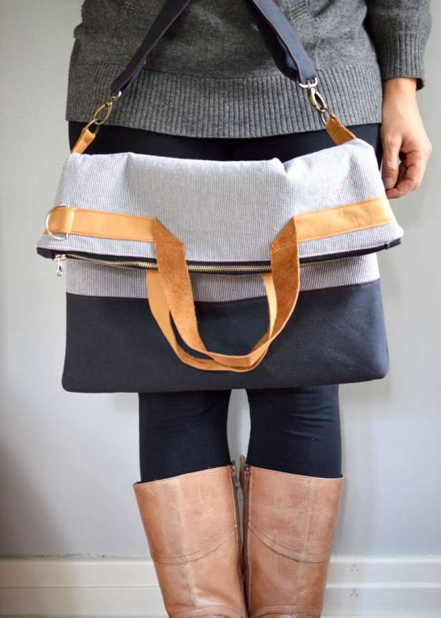 Field Stud Fold-Over Tote