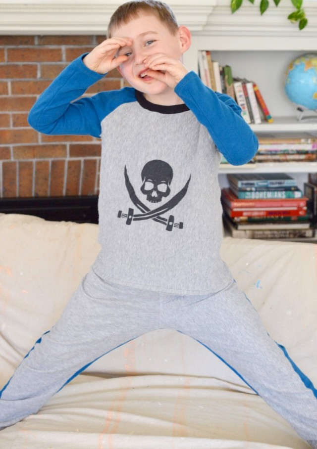 Pajamas for Aspiring Pirates - a happy stitch