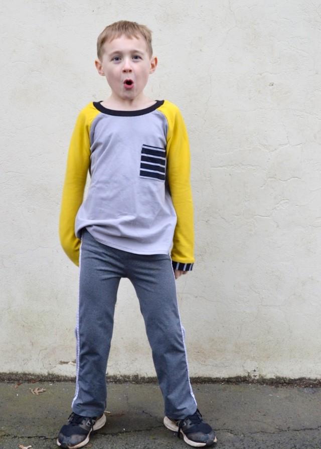 Kid's Clothes Week :: Raglan Tees for Boys // a happy stitch