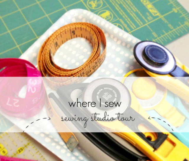 Where I Sew a sewing room tour a happy stitch