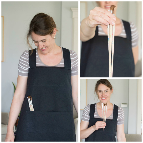 sewing happiness book review - work apron a happy stitch