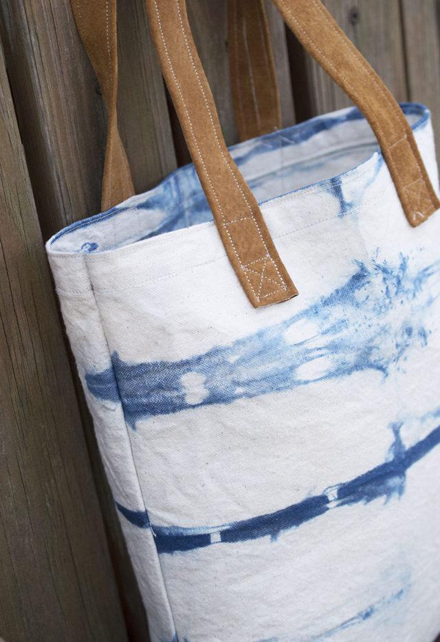 Canvas Tote Indigo Dyed | a happy stitch