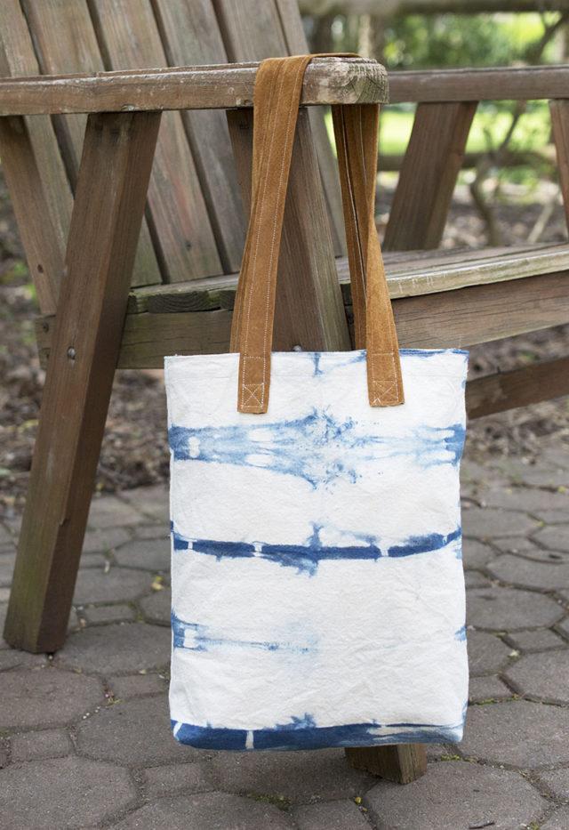Indigo Striped Bag | a happy stitch