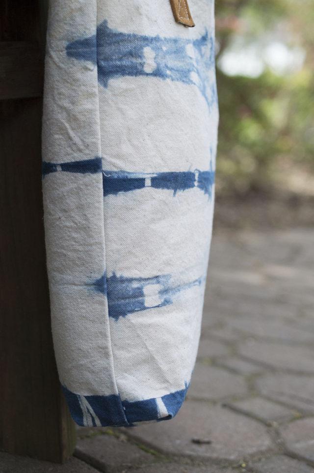 Indigo Tote Bag | a happy stitch