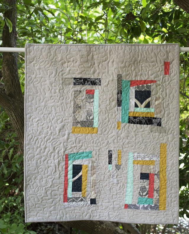 Umbrella Prints Trimming - Together Quilt | a happy stitch