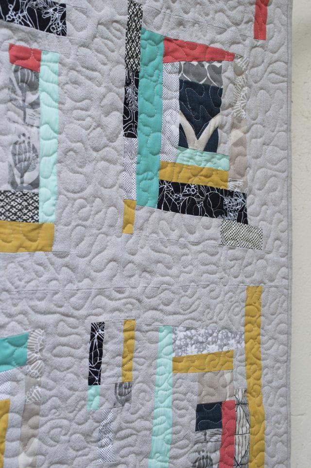 Umbrella Prints Trimming - Together Quilt details | a happy stitch