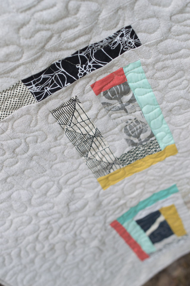 umbrella prints trimmings challenge-the Together quilt