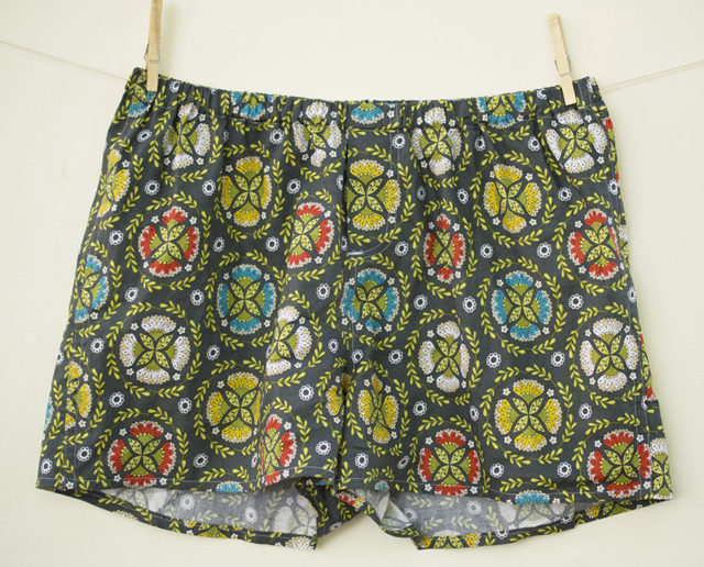 Sewing for Dudes_Boxer Shorts in Dutch Treat Medallion fabric_a happy stitch