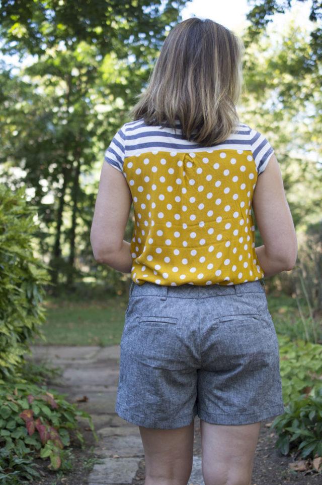 Handmade Summer Wardrobe Basics! Thurlow Shorts in Chambray -a-happy-stitch